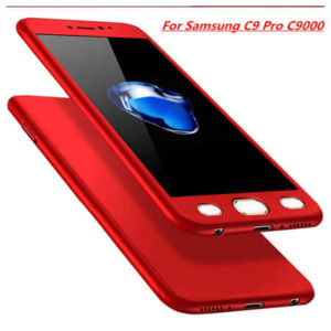 Samsung C9 Pro front and back cover with temperd glass full protection