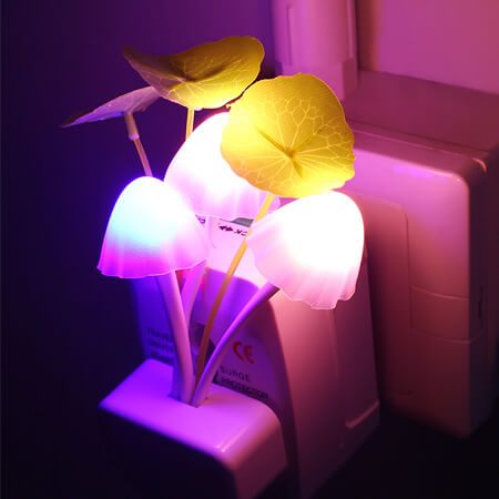 Smart Night led lamp Mushroom Shape Automatic Multi-Color Changing